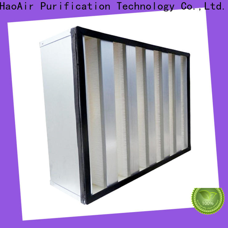 HAOAIRTECH disposable hepa filter h12 with dop port for dust colletor hospital
