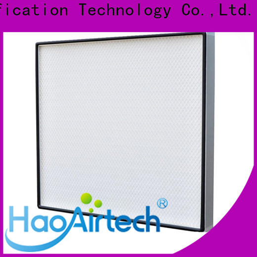 HAOAIRTECH gel seal h14 hepa filter with big air volume for dust colletor hospital