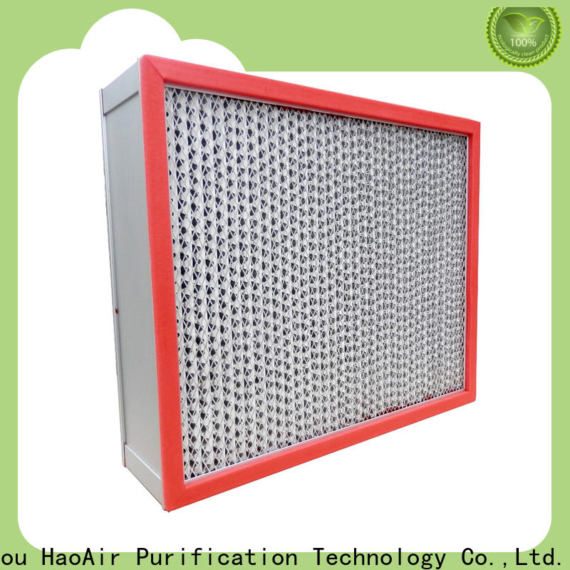 HAOAIRTECH high efficiency high temperature air filter with large air volume for prefiltration