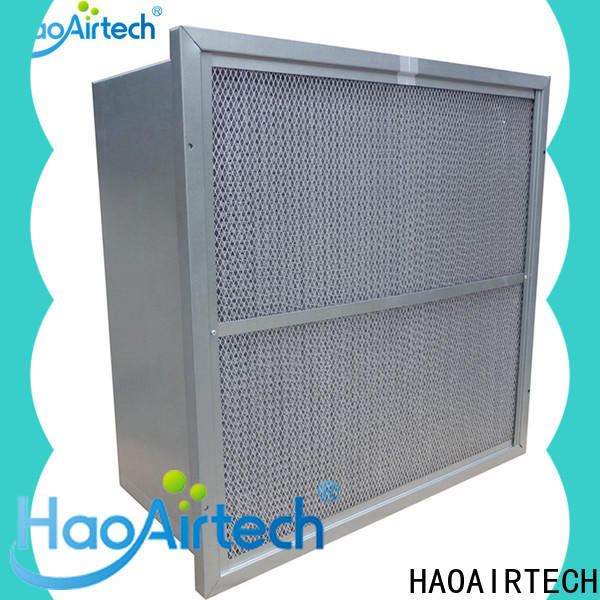HAOAIRTECH secondary v cell rigid filter with abs frame for schools and universities