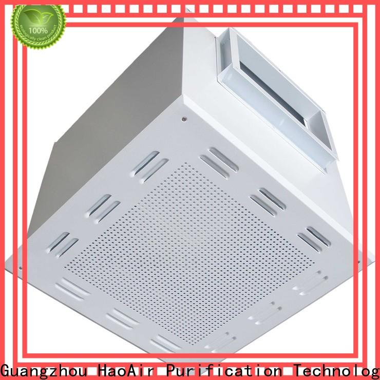 high efficiency filter fan unit with central air conditioning for cleanroom ceiling