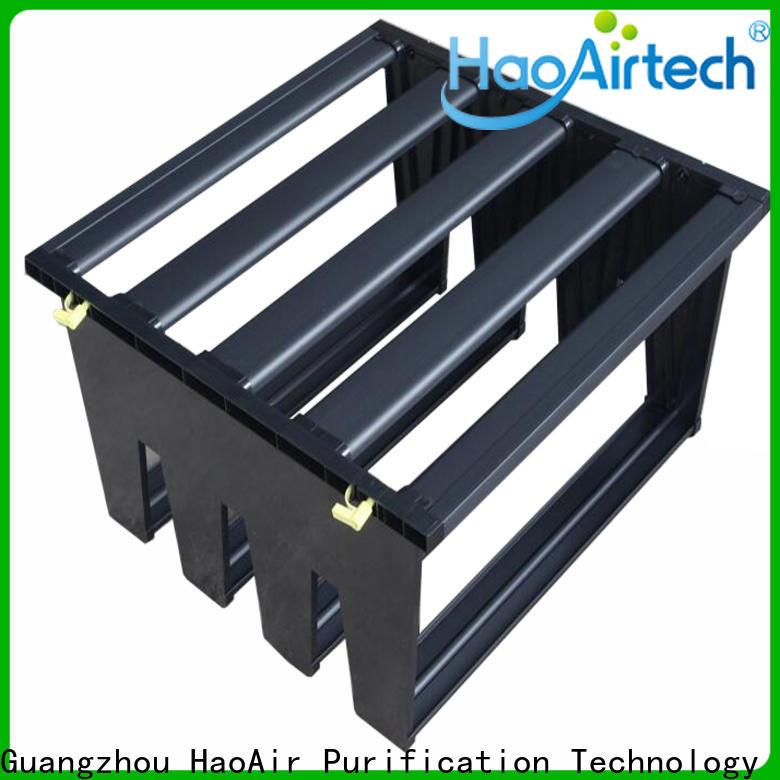 HAOAIRTECH Air filter media manufacturer for secondary v bank air filter