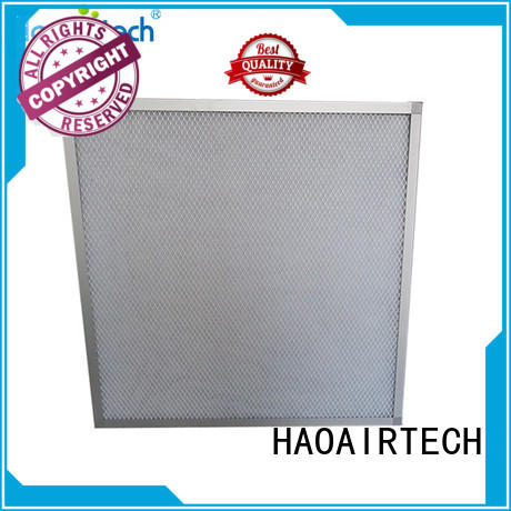 HAOAIRTECH panel air filter with aluminum frame for centralized ventilation systems