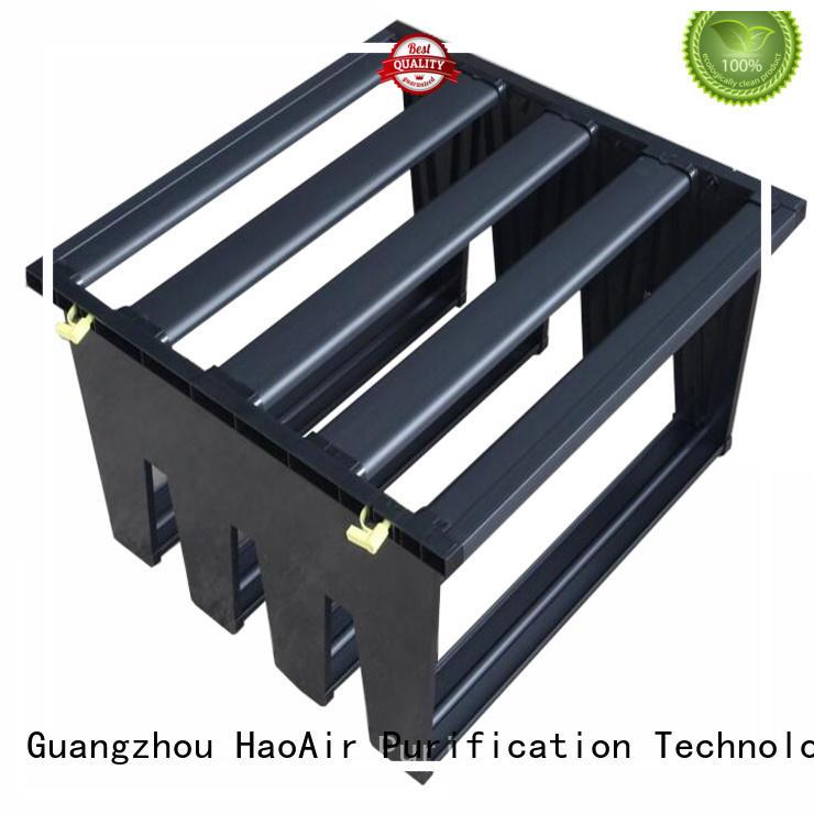 HAOAIRTECH high efficiency Air filter frame manufacturer for secondary v bank air filter