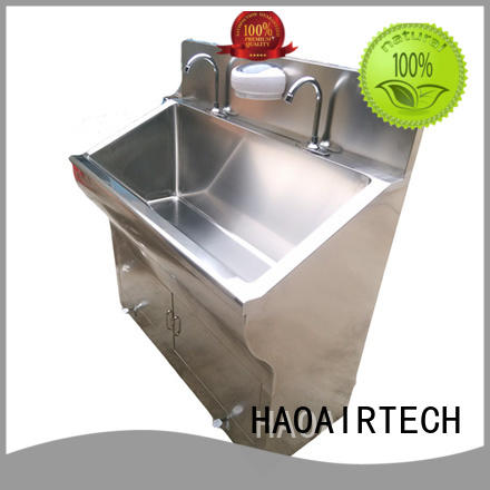 HAOAIRTECH professional scrub sink with stainless steel wholesale
